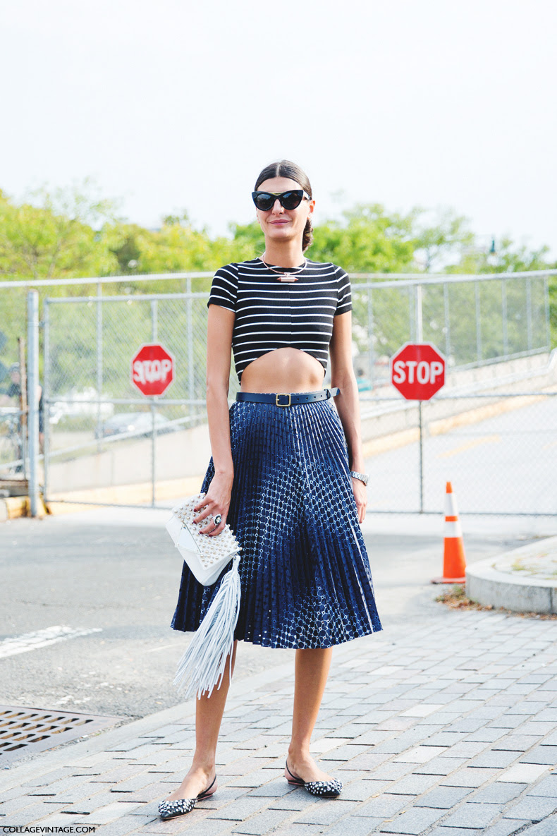New_York_Fashion_Week_Spring_Summer_15-NYFW-Street_Style-Giovanna_Battaglia-Cropped_Top-Midi_Skirt-Alexander_Wang-3