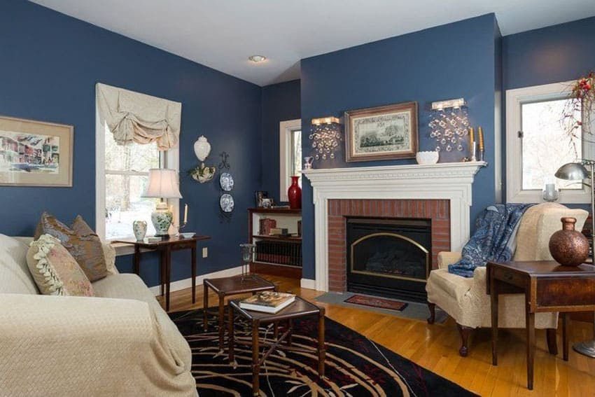 Newest 28 Living Rooms With Blue Walls