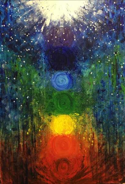 Title: Adya Abstract Acrylic Painting Size: Width (cm): 70, Height (cm): 100  It's an abstract acrylic...