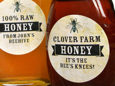 Custom Honey Bottle Labels for backyard beekeepers and gifts – CanningCrafts