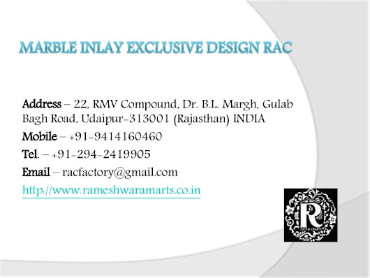 Marble inlay exclusive design rac