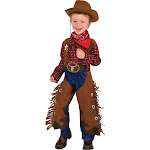 Halloween Boys' Little Wrangler Halloween Costume XS - Rubie's, Boy's, Brown