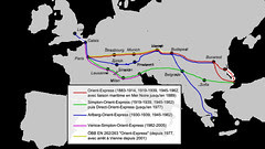 Peta Perjalanan Train Orient Express dari Paris ke Istanbul