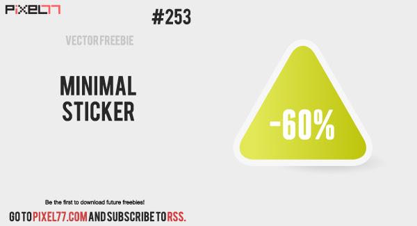 pixel77 free vector minimal sticker 0118 600 Free Vector of the Day #253: Minimal Sticker