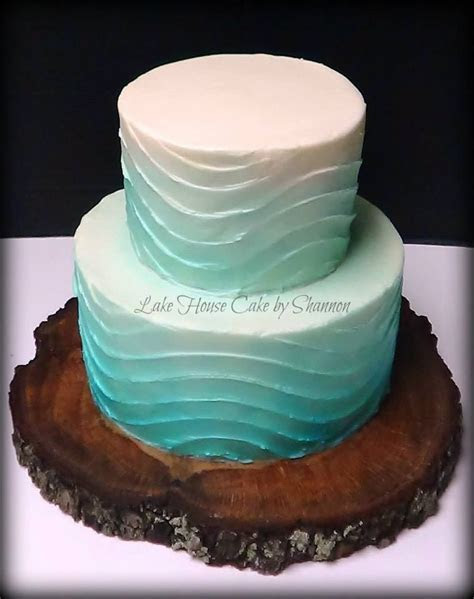 Wave design wedding cake, textures, wave, beach themed