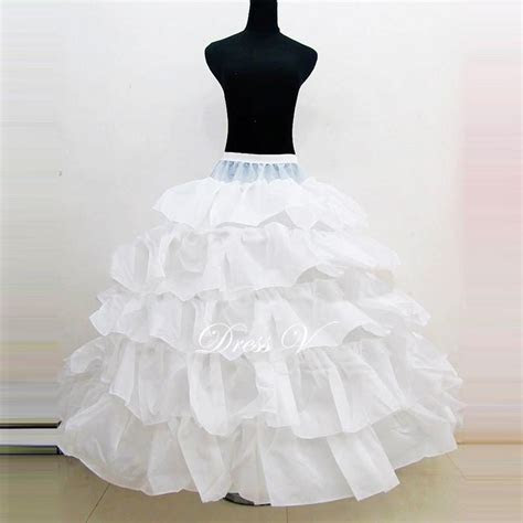 Dressv White 5 Layers Ball Gown Wedding Bridal Petticoat