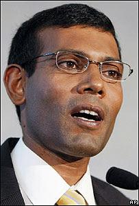 Mohamed Nasheed, presidente de las Maldivas