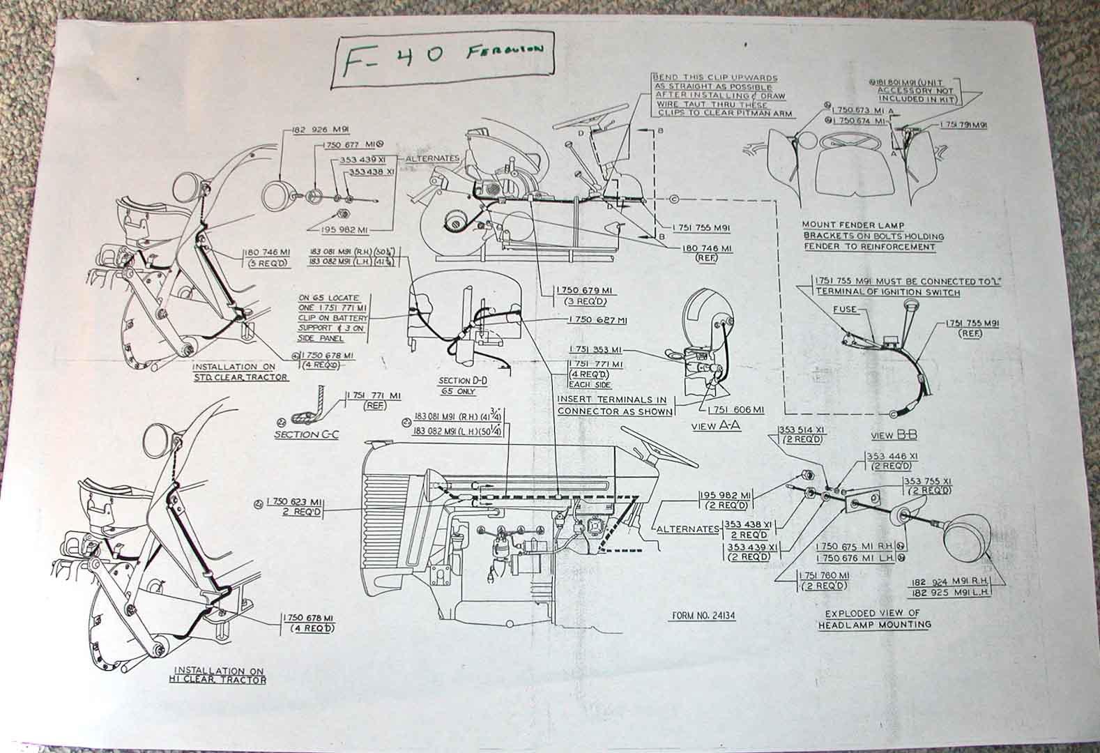 12 Volt Wiring Diagram To20 Ferguson Tractor