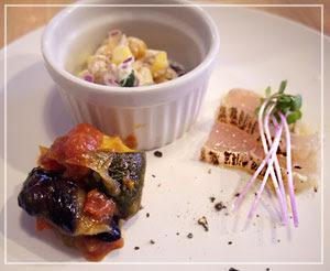 「欧風食堂タブリエ」の3種前菜。ちゃんと手がかけてあって、いつもすてき。