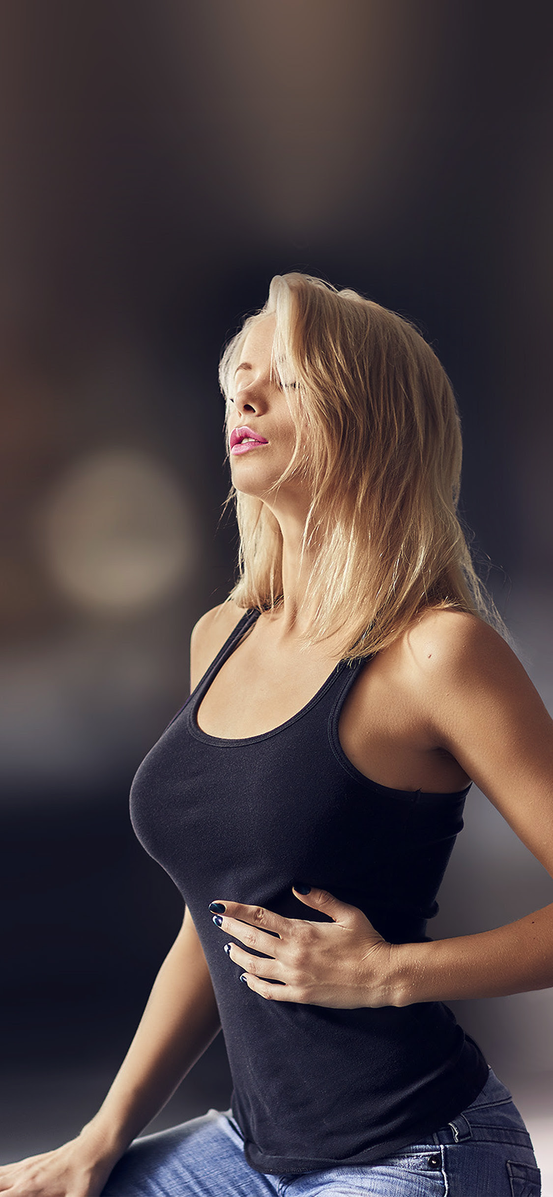 Iphonexpapers Com Iphone X Wallpaper Ho60 Girl Sexy Woman Model Blonde