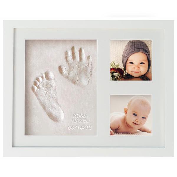 First Impressions Baby Handprint Footprint Memory Frame Wavhello