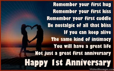 1st Anniversary Poems for Couples: Happy First Wedding