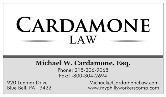 PA Workers' Compensation Info- Cardamone Named Top 10 Attorney in Pennsylvnia
