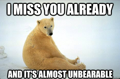 I Miss You Already And Its Almost Unbearable Misc Quickmeme