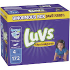 Luvs Ultra Leakguards Disposable Diapers, Size 4 - 172 count