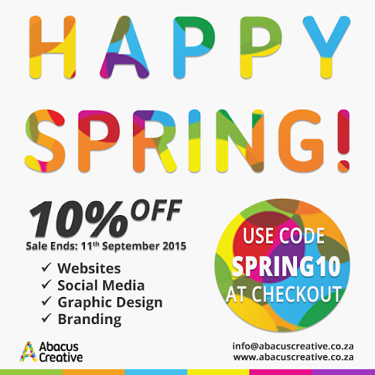 Happy Spring! Save 10% and do something new for your business