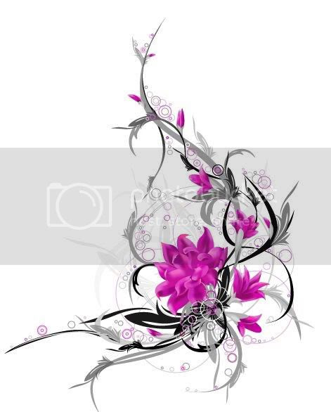 tattoos for girls on hip flowers. colorful tattoos for girls
