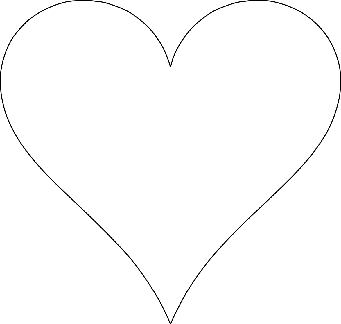 Printable Heart Shape - ClipArt Best