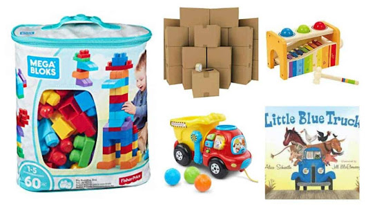 Toddler Tuesdays: What Toys Do One Year Olds Like? - Hezzi-D's Books and Cooks