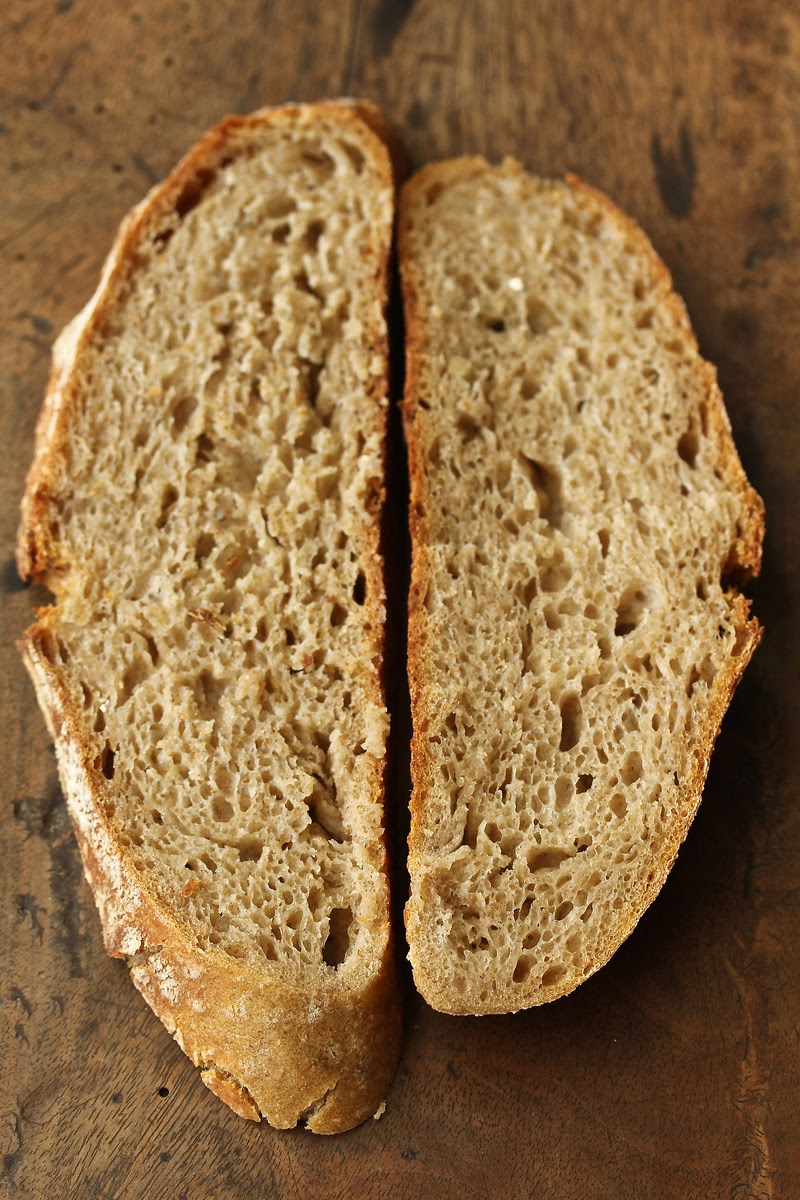 White, Whole Rye, and Whole Wheat Sourdough Bread
