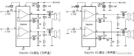 Soft    Wiring     Tda2009 Amplifier Circuit    Diagram