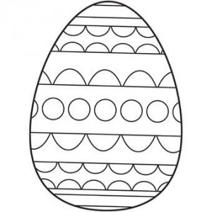 Free easter egg coloring page for kids | Crafts and ...