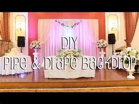 DIY Pipe & Drape Backdrop in 4 Easy Steps   YouTube