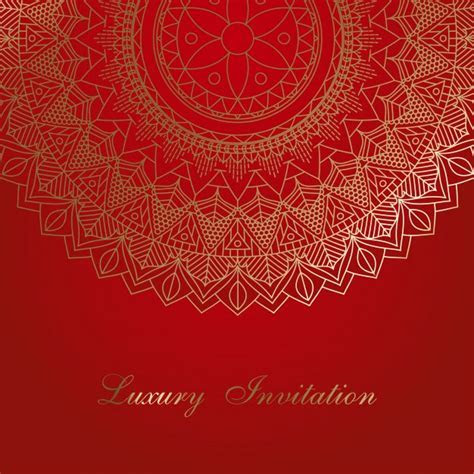 Invitation background with decorative mandala design