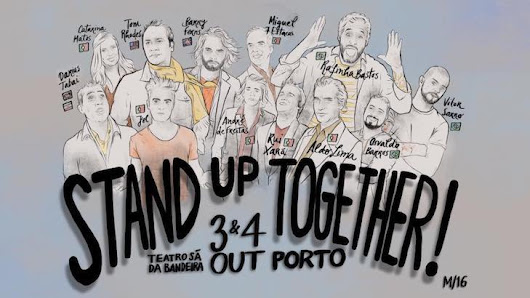 Porto acolhe espetáculo de stand up comedy em duas línguas: Stand-Up Together!