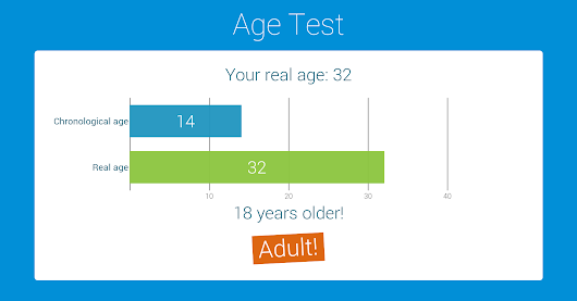 My real age: 32 - Adult!