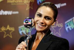 Giovanna Antonelli venceu na categoria Melhor Atriz (Foto: Ellen Soares/Gshow)