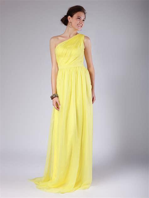Raining Blossoms Bridesmaid Dresses: Yellow Bridesmaid