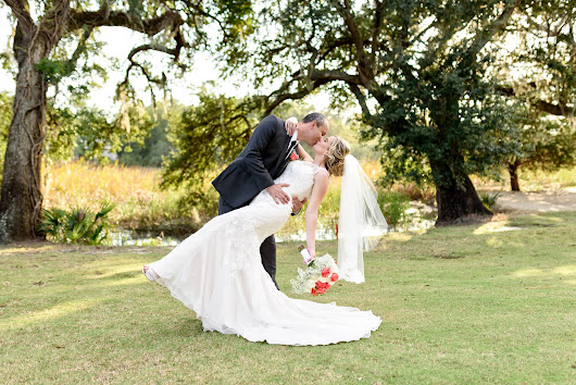 Wedding portraits on the golf course at Pawleys Plantation