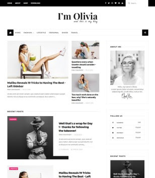 Olivia Clean Blogger Templates