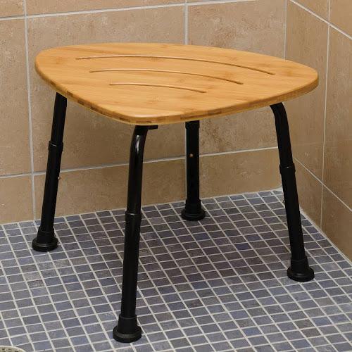 Google Express - DMI Corner Bamboo Spa Bench and Shower Stool, 18\