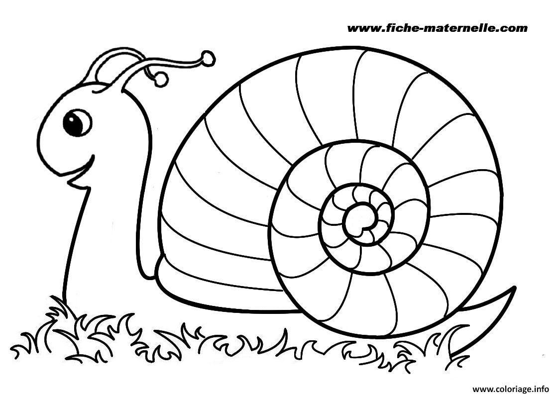 Coloriage Rentree Maternelle Escargot Jecoloriecom