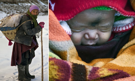 Indian mother walk 9 days in -35C to give birth, then carry baby back