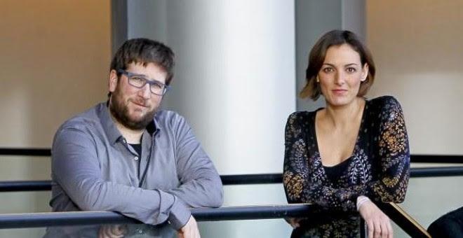 Los eurodiputados Lola Sánchez y Miguel Urban. Instituto 25M