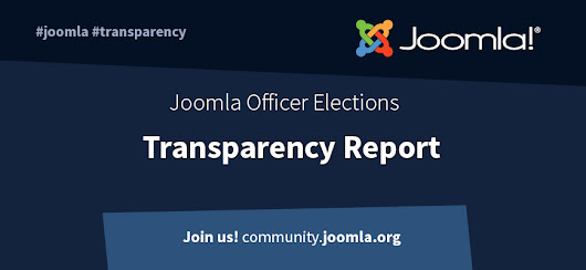 Joomla Officer Elections - Transparency Report