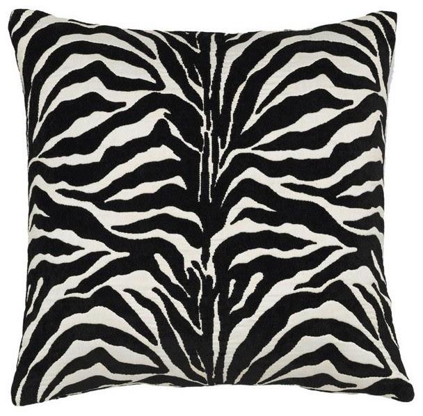 Black and White Zebra Stripe Pillow - outdoor pillows - chicago ...