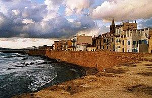 16th century catalan city walls, Alghero, Sardinia