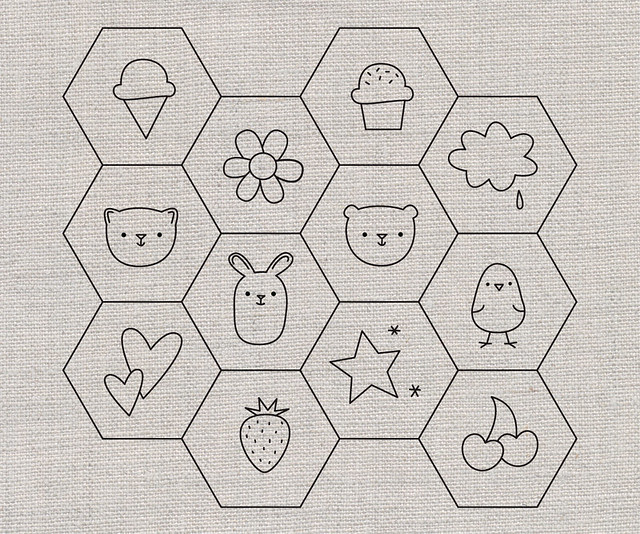 Hexagon Patterns for Stitching