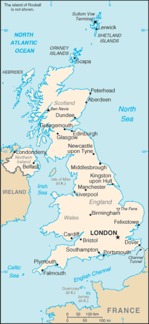 An enlargeable basic map of the United Kingdom