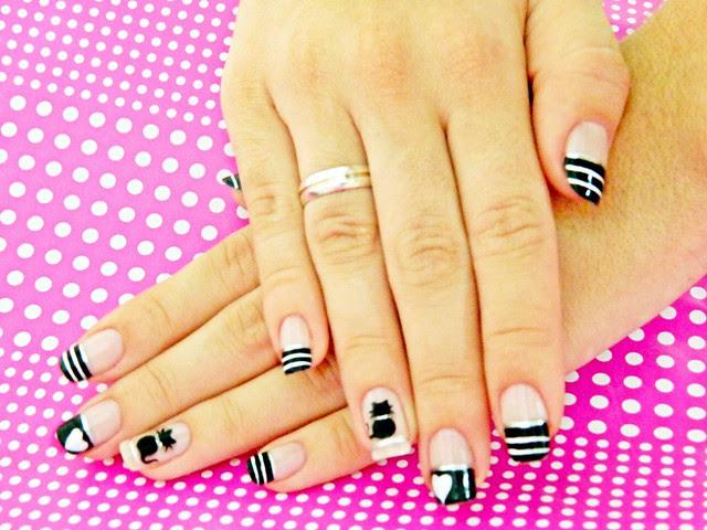 juliana leite unhas gatinho nail art filha unica unhas decoradas 006