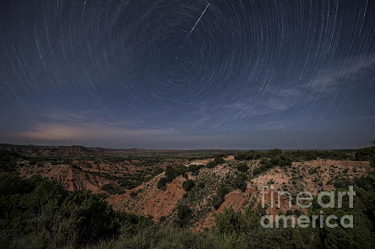 Moonlit Skies Over Caprock Canyons by Melany Sarafis
