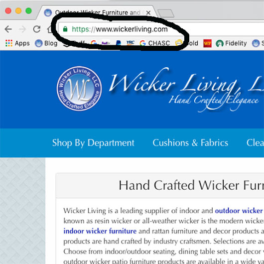 Website Security Ensures Safe Shopping at www.WickerLiving.com