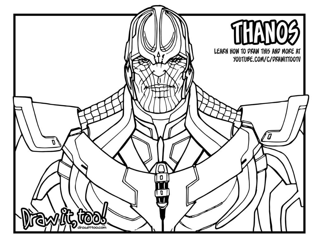 Avengers Thanos Coloring Pages - coloringpages2019