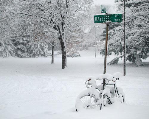 Snowy bikes by dcclark