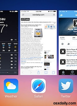 Quit running apps in iOS 7