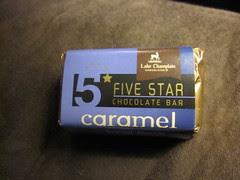 Lake Champain Five Star Chocolate Bar Caramel